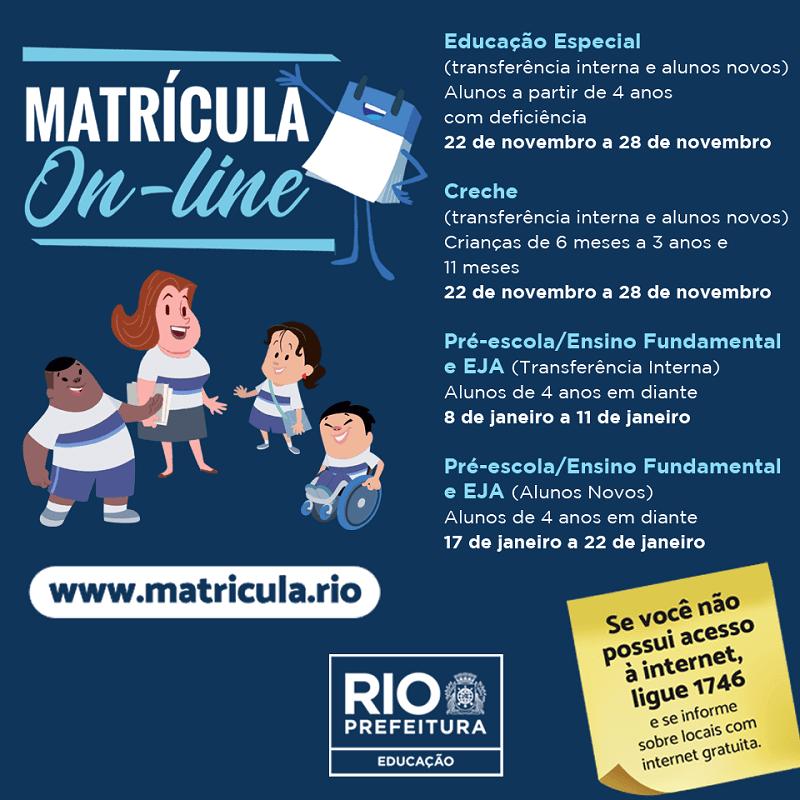 Matrícula Rio 2022 Online