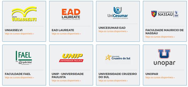 Lista de Faculdades Parceiras do Educa Mais Brasil